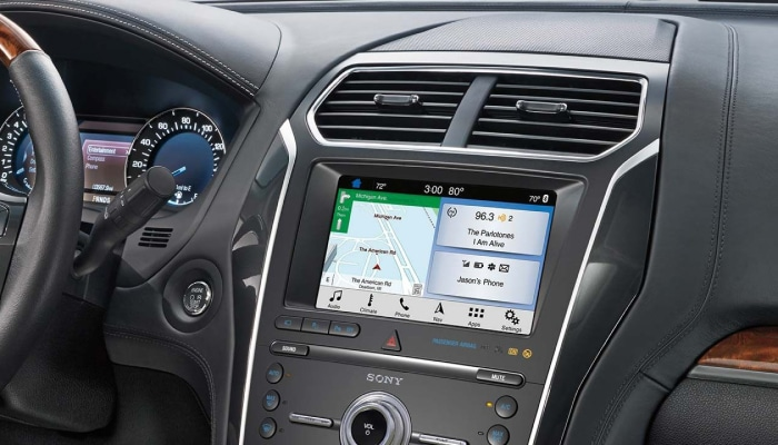 Touchscreen display inside the 2019 Ford Explorer