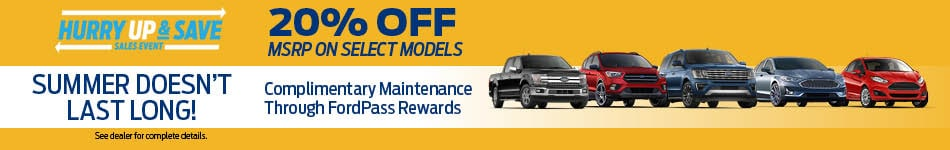 20% Off On Select Models