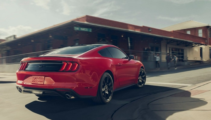 The sleek exterior of the 2019 Ford Mustang