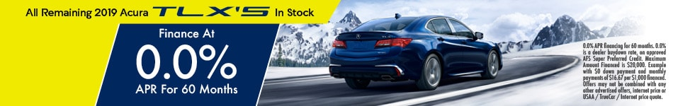 0% APR for Remaining 2019 TLX's In Stock