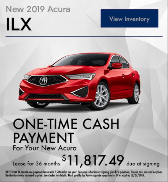 Acura Lease Specials >> One Payment Lease Specials Bloomington Acura