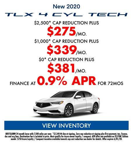 New 2020 TLX 4 CYL TECH