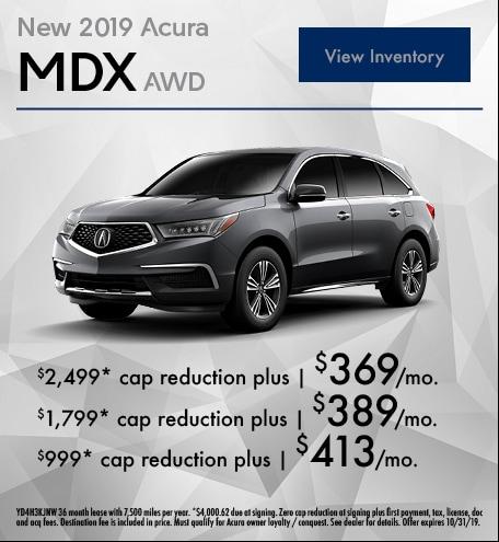September 2019 MDX Lease