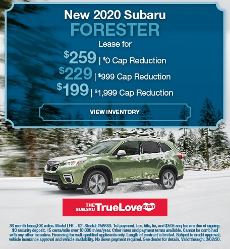 February 2020 Forester Lease