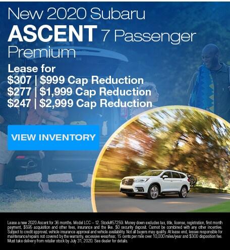 New 2020 Subaru Ascent 7 Passenger Premium