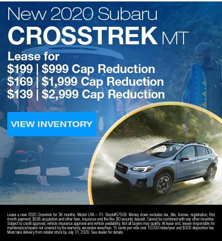 New 2020 Subaru Crosstrek MT