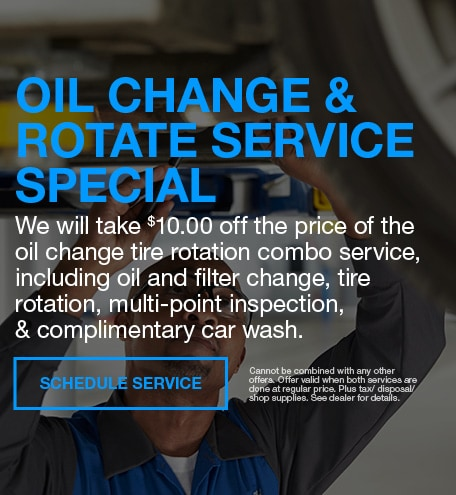 Oil Change and Rotate Special