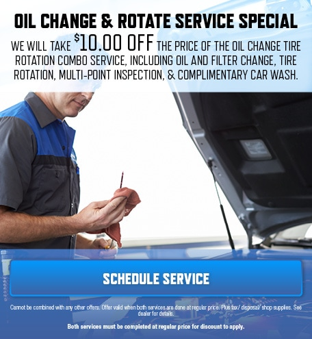 Oil Change & Rotate Service Special