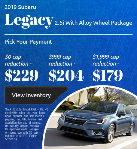 May 2019 Legacy Lease
