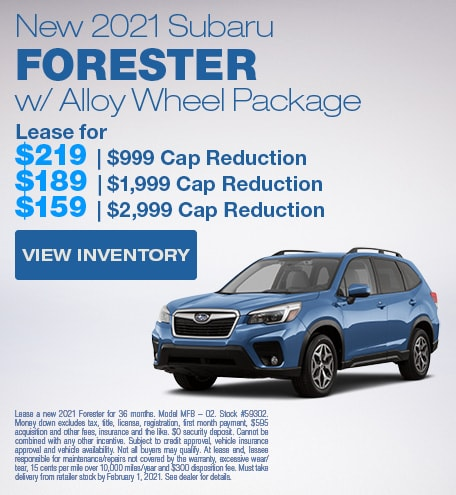 New 2021 Subaru Forester w/ Alloy Wheel Package