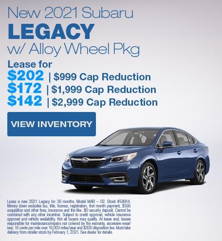New 2021 Subaru Legacy w/ Alloy Wheel Pkg