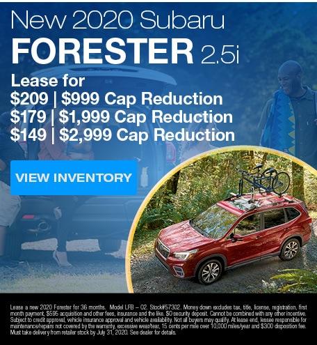 New 2020 Subaru Forester 2.5i
