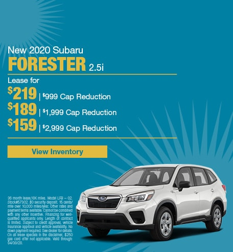 April 2020 Forester Lease