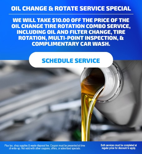 'Oil Change & Rotate Service Special