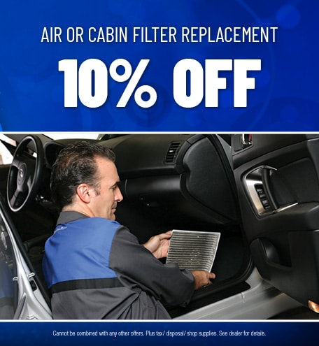 Air Or Cabin Filter Replacement