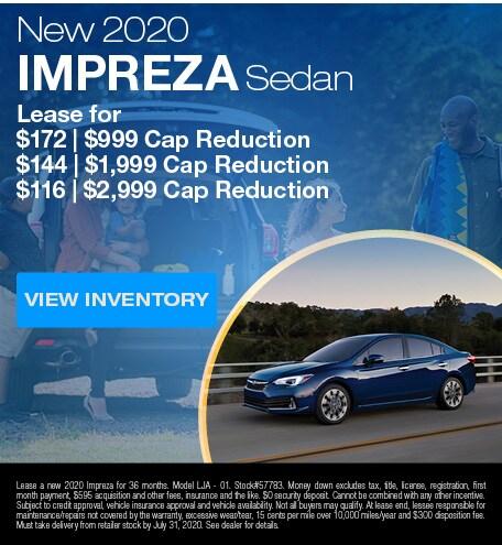 New 2020 Impreza Sedan