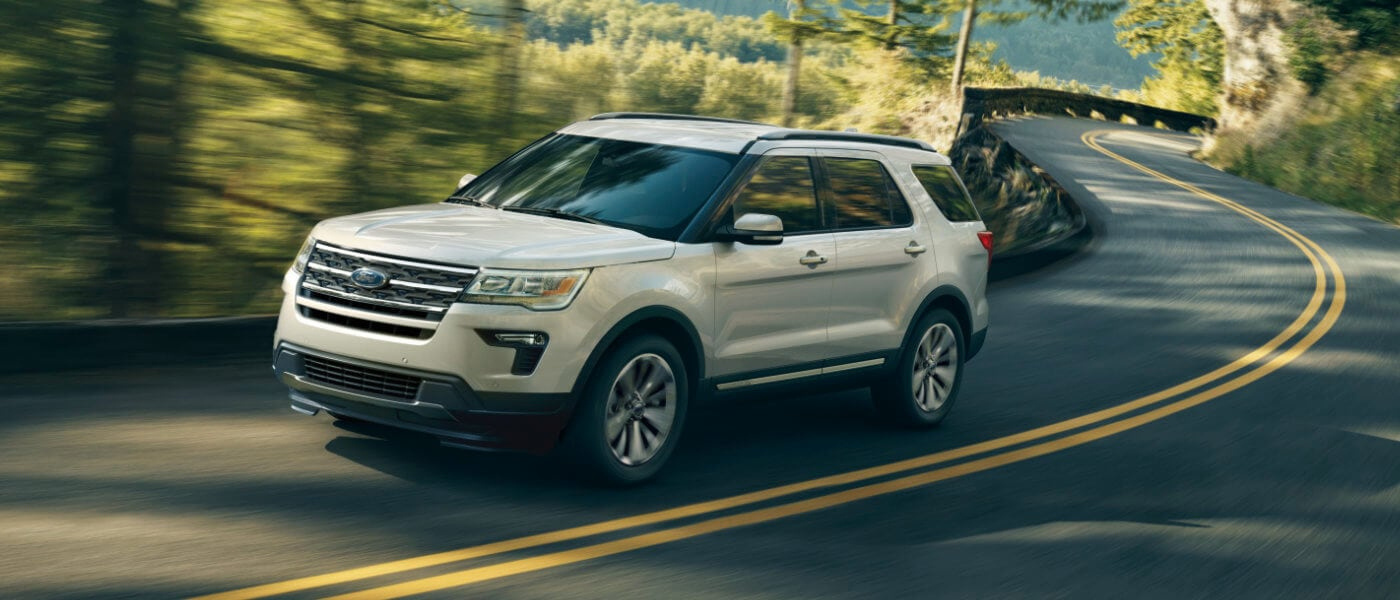 2019 Ford Explorer driving on forest road
