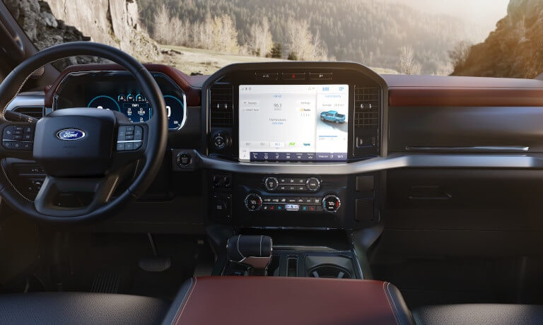 2021 Ford F-150 interior infotainment view