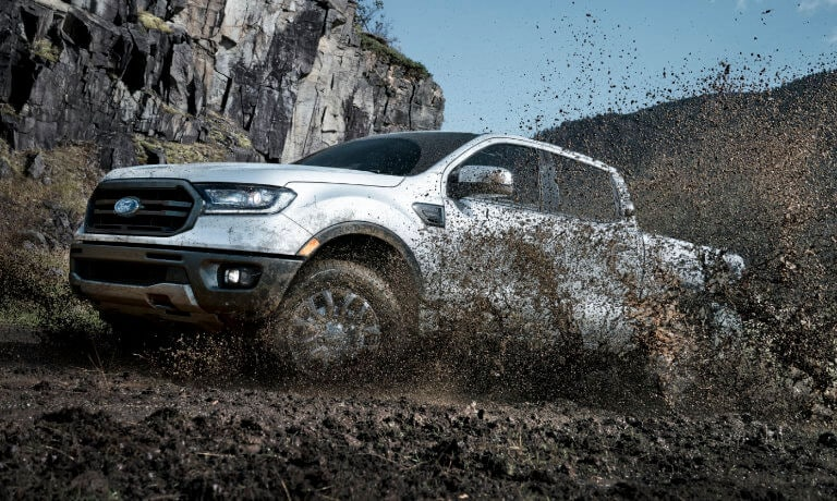 2019 Ford Ranger exterior splashing up mud