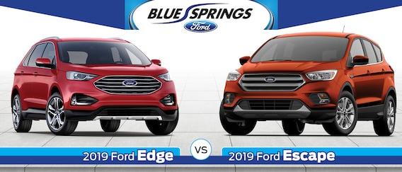 Ford Edge Vs Escape >> 2019 Ford Edge Vs 2019 Ford Escape Blue Springs Ford