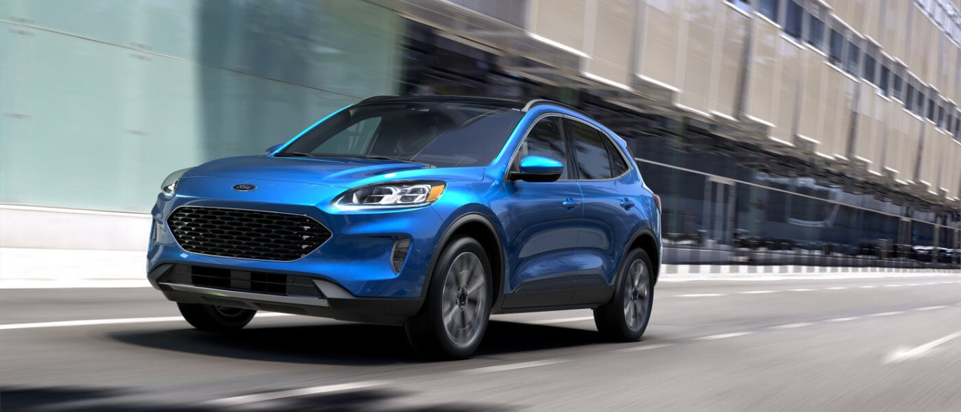 2021 Ford Escape driving down the road