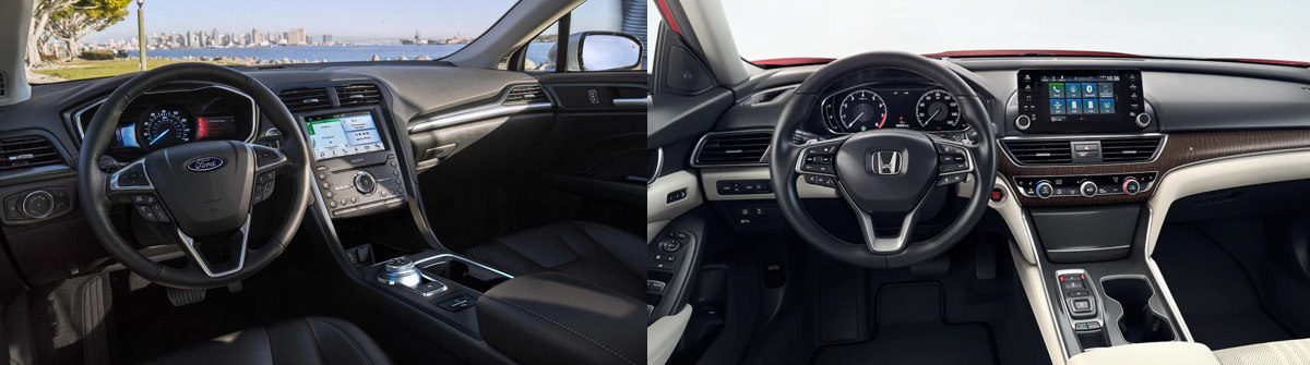 2019 Ford Fusion vs. 2019 Honda Accord Interior Comparison