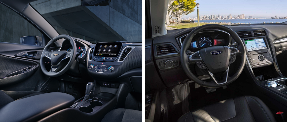 2019 Ford Fusion vs. 2019 Chevy Malibu Interior Comparison