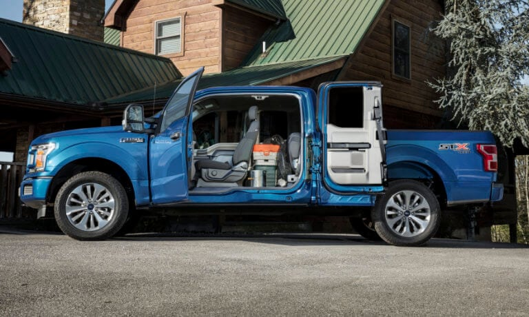 2019 Ford F-150 Exterior wide open view of interior
