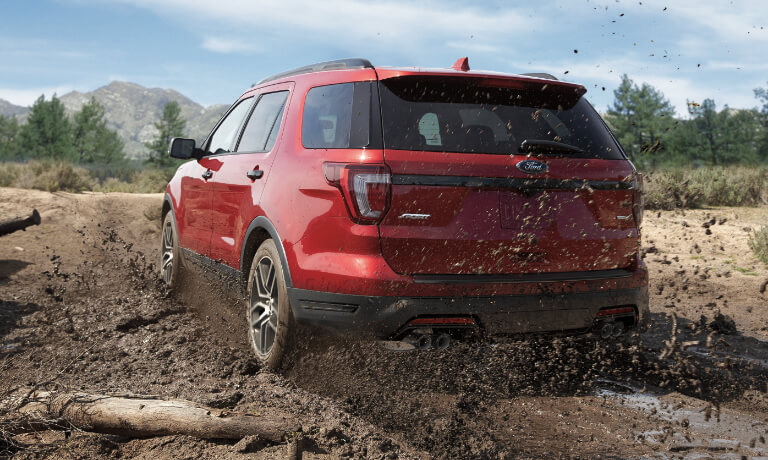 2019 Ford Explorer exterior kicking up dirt