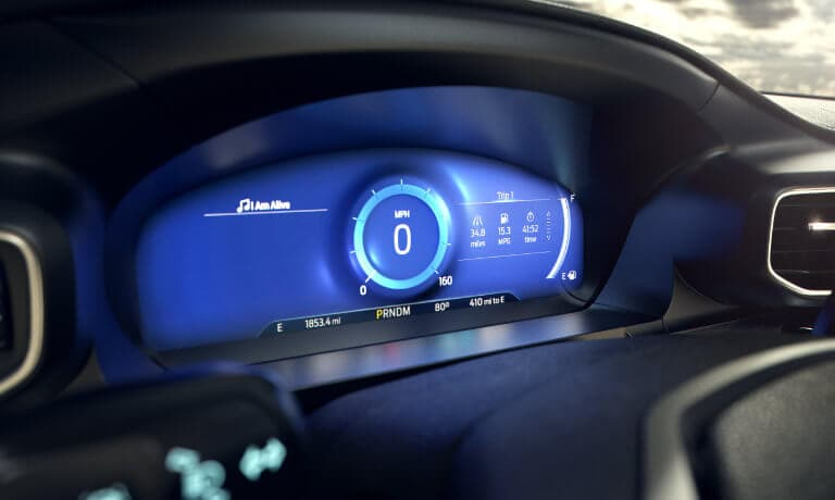 2020 Ford Explorer driver display