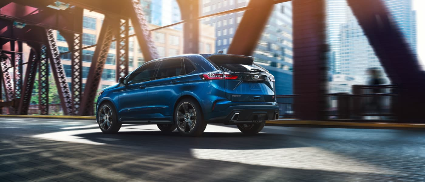 2020 Ford Edge ST driving in the city