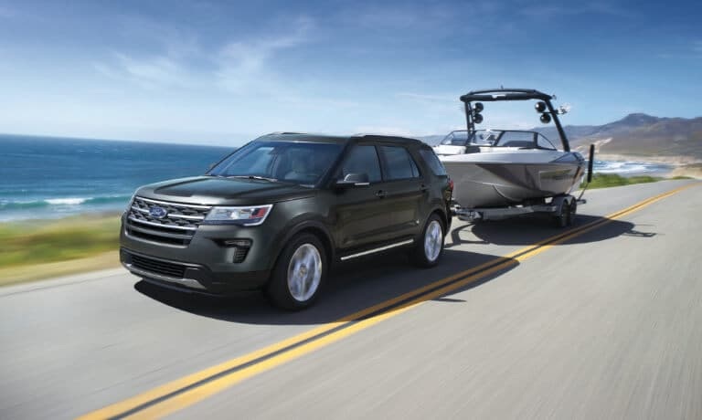 2019 Ford Explorer exterior towing boat