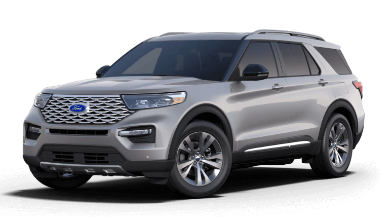 2020 Ford Explorer Platinum - iconic silver