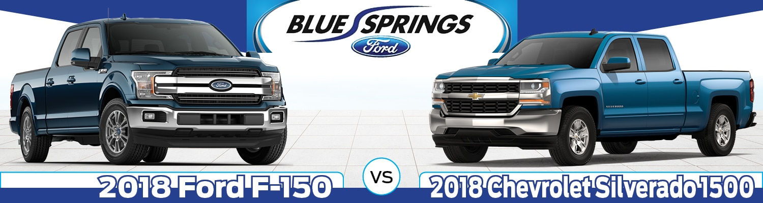 2018 Ford F-150 vs. 2018 Silverado 1500: A Mid-Sized Truck Comparison | Blue Springs, MO