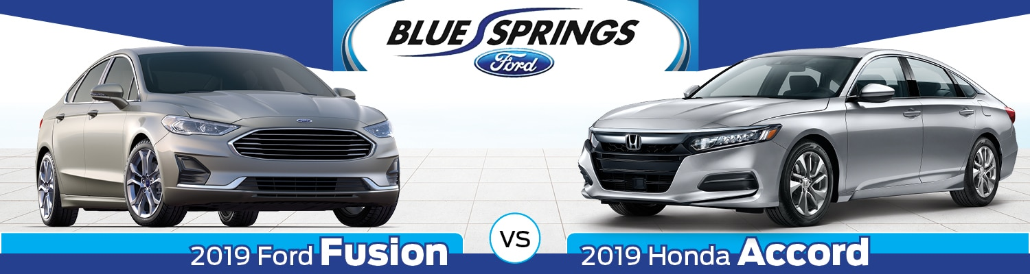 2019 Ford Fusion vs. 2019 Honda Accord Sedan Comparison