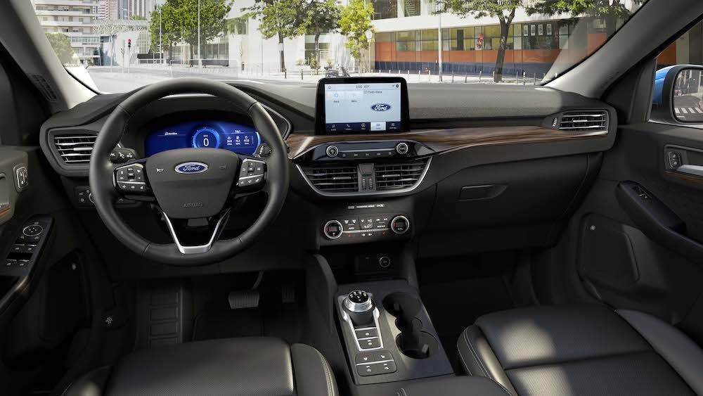 Ford Escape front interior & infotainment