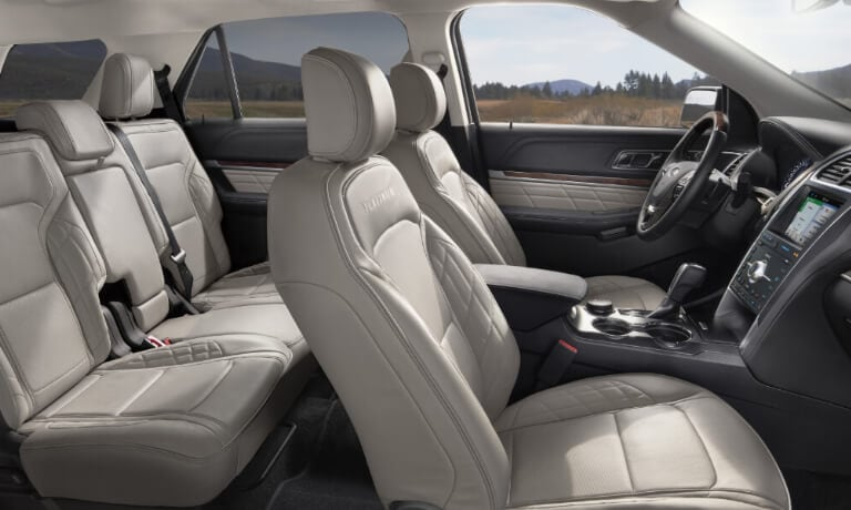 2019 Ford Explorer interior seating side view