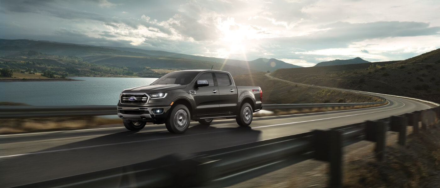 2021 Ford Ranger driving on the road