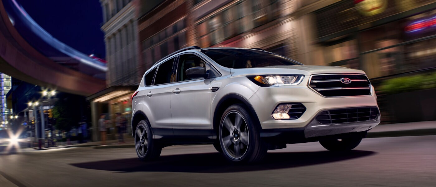 2019 Ford Escape driving in the city at night