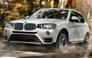 2017 BMW X3 in Mineral White Metallic
