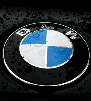 BMW Logo in rain