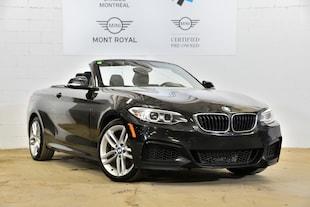 2016 BMW 228i xDrive-Convertible-Certifié Gar. 5 Ans Km Illimité Convertible