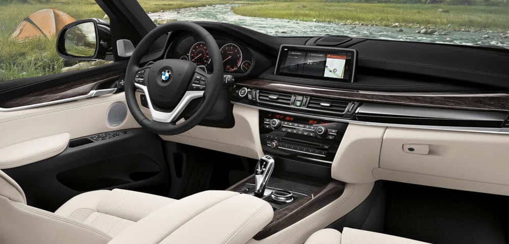 Interior photo of the 2018 BMW X5