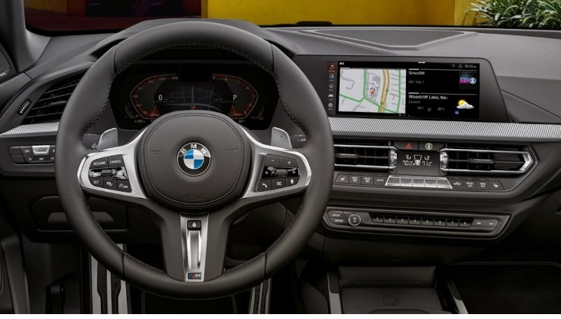 Interior view of the BMW 2 Series Gran Coupe showcasing app compatibility.