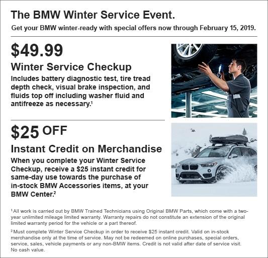 NJ BMW Service Specials