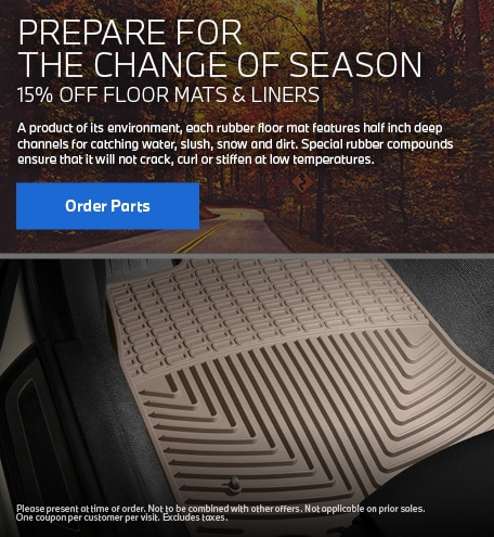15% OFF FLOOR MATS AND LINERS
