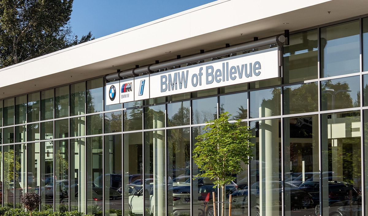 Exterior view of BMW of Bellevue