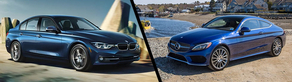 2017 bmw 330i vs 2017 mercedes benz c 300 bmw of for Mercedes benz mountain view