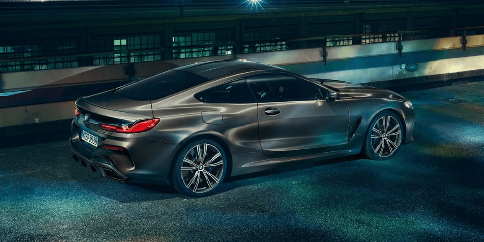 2019 BMW 8 Series Coupe rear 3/4 view