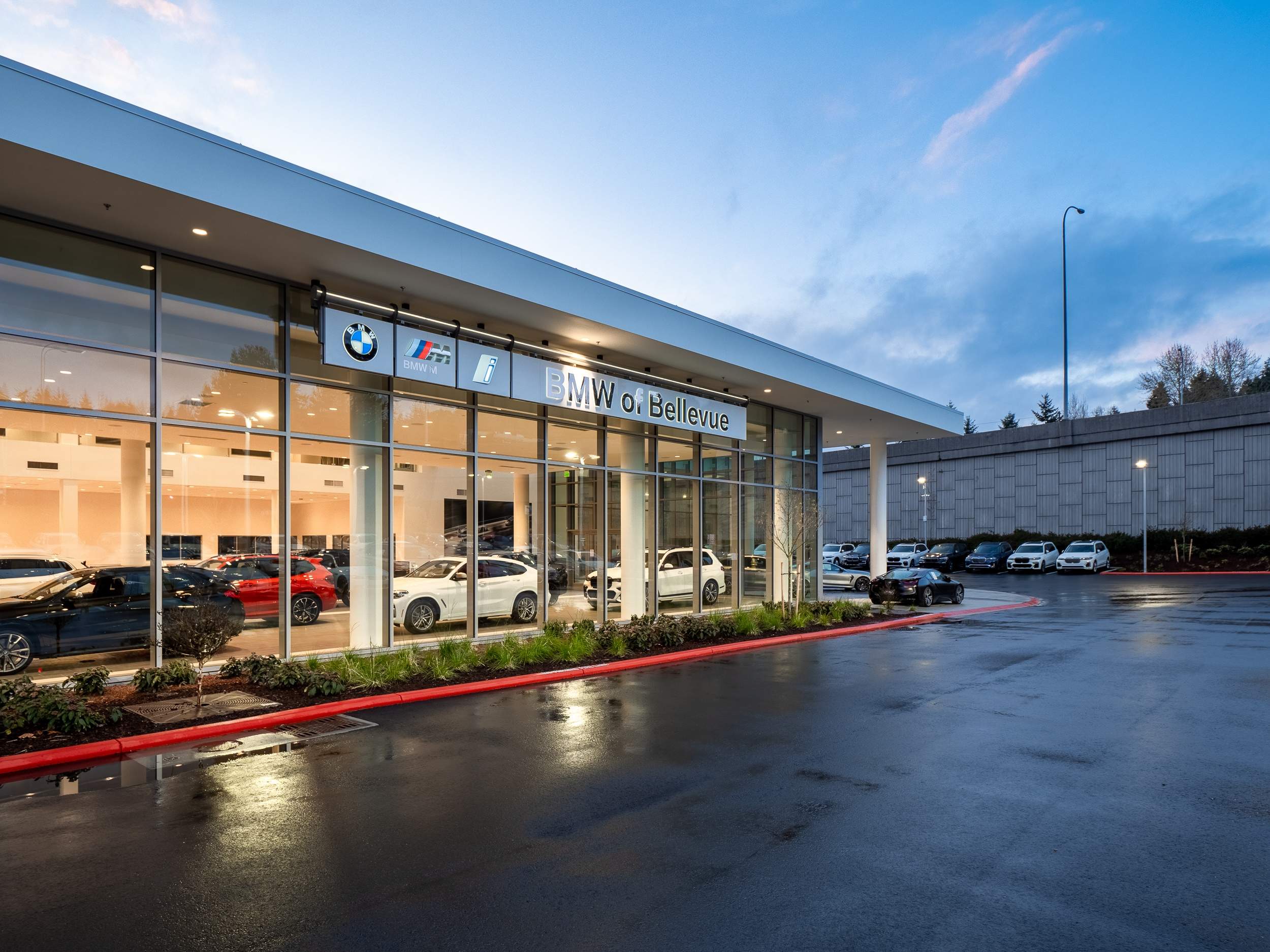 Exterior view of the service center at BMW of Bellevue